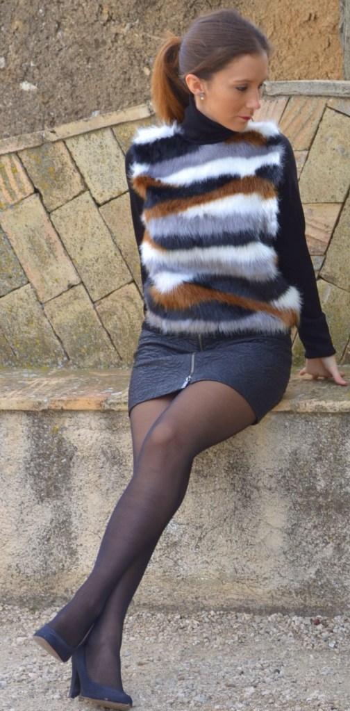 Falda de cuero de Zara