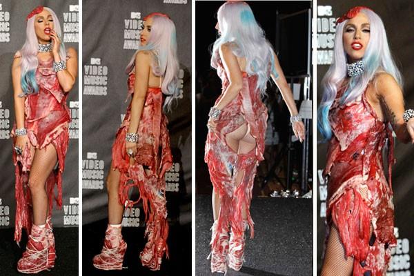 Lady Gaga y sus vestidos estrambóticos/ Imagen www.revistaohlala.com