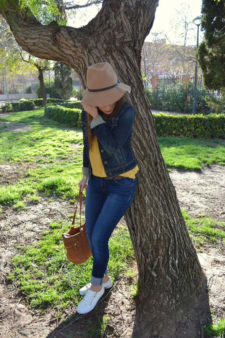 Sombrero fedora de lana