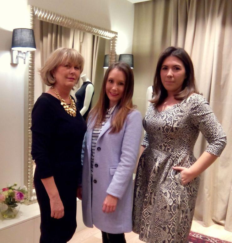 Con la diseñadora Rosa Blasco