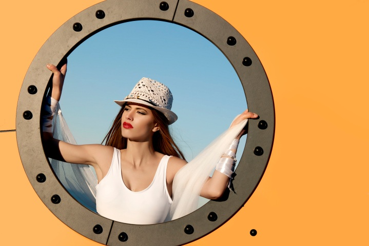 Sombrero Playa Mujer GIANIN